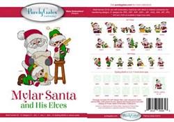 Mylar Santa & His Elves