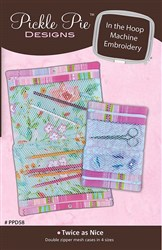 Twice as Nice Mesh Cases In The Hoop Embroidery Designs CD