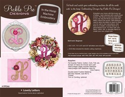 Lovely Letters In The Hoop Machine Embroidery Designs Set CD