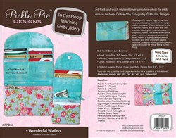 In the Hoop Wonderful Wallets Machine Embroidery Designs CD
