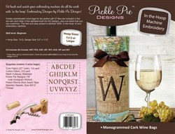 Monogrammed Cork Wine Bags Designs CD
