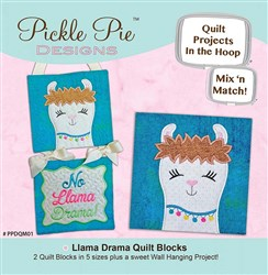 Llama Drama Mix & Match Quilt Blocks ITH Designs CD