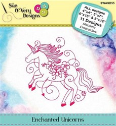 Enchanted Unicorns Machine Embroidery Designs CD