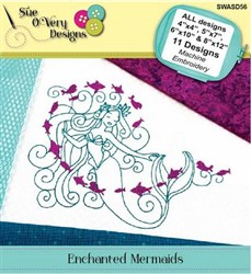 Enchanted Mermaids Machine Embroidery Designs CD