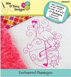 Enchanted Flamingo's Machine Embroidery Designs CD