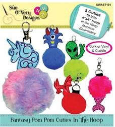 Fantasy Pom Pom Cuties In the Hoop Designs CD