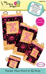 Popular Plaza Pouch In the Hoop Designs CD