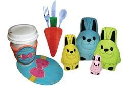 Easter Gifts in the Hoop Mug Rugs Mug Mats Designs CD