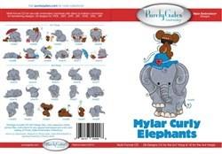 Mylar Curly Elephants