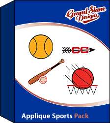 Applique Sports Package Embroidery Collection Annthegran