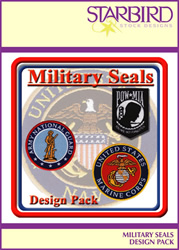 Military Seals Design Pack embroidery design pack