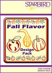 Fall Flavor Design Pack embroidery design pack