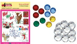 BRAND NEW Merry and Bright Design Collection and Crystals Bundle