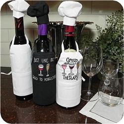 Wine Bottle Apron w/Chef Hat