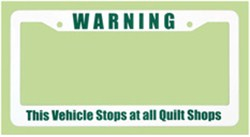 License Plate Frame - Quilt Shops