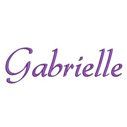 AMD Gabrielle embroidery font