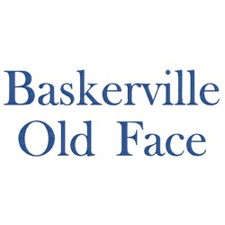 Baskerville embroidery font