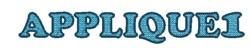 Alphabet Xpress Font- Applique1 embroidery font