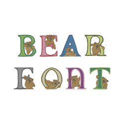 bear font embroidery font