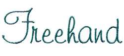 Freehand embroidery font