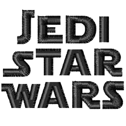 Jedi Star Wars Machine Embroidery Alphabets | AnnTheGran com
