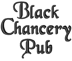 Black Chancery embroidery font
