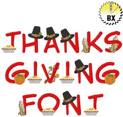 Thanksgiving Font embroidery font