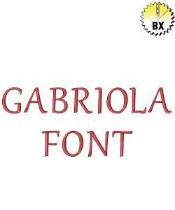 Gabriola Font embroidery font