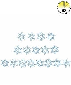 Snowflake Alphabet 1.65in embroidery font