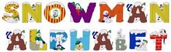 Snowman Alphabet embroidery font