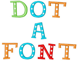 Dot Font embroidery font