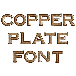 Copperplate Font embroidery font
