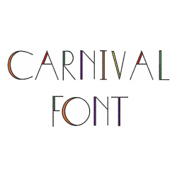 Carnival Font embroidery font