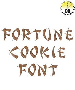 Fortune Cookie Font embroidery font