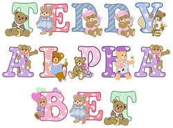 Teddy Alphabet embroidery font