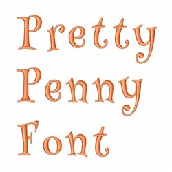 Pretty Penny Font embroidery font