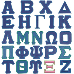 greek lettering font set embroidery font annthegran 12114 | mono14