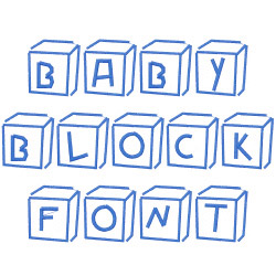 Baby Blocks Embroidery Font Annthegran