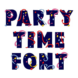 Party Time Font embroidery font