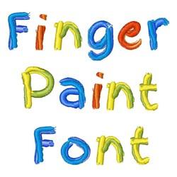 Finger Paint Font embroidery font