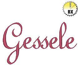 Gessele 0.75in embroidery font