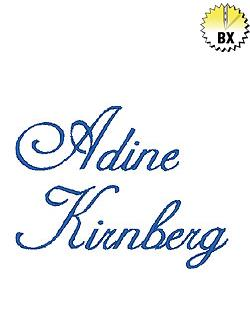 Adine Kinberg 0.75in embroidery font
