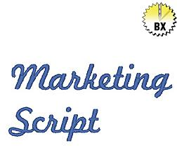 Marketing Script 0.75in embroidery font