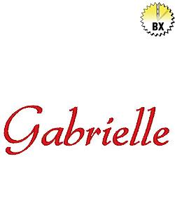 Gabrielle Cursive Font 0.75in embroidery font