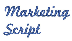 Marketing Script embroidery font