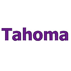 Tahoma Font embroidery font