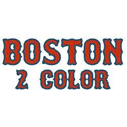 Boston 2 Color embroidery font