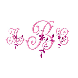 Monogram 57 embroidery font