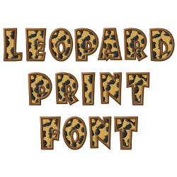 Leopard Font embroidery font