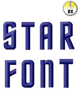 Star Font 0.71in embroidery font
